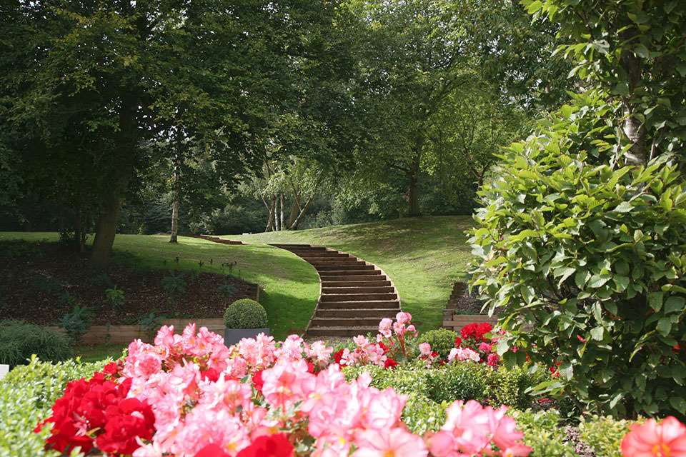 Steps to The Hangar at Kesgrave Hall