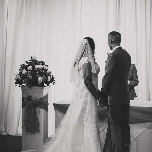 Bridge and groom at The Altar in The Hangar